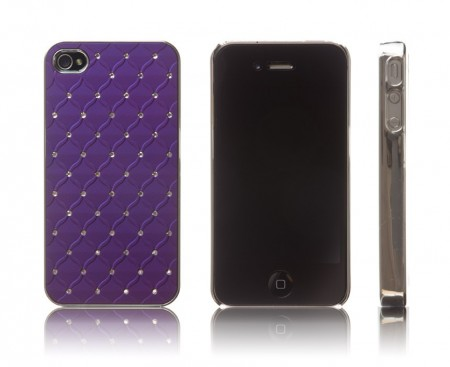 Hardcase Iphone 4/4S Diamant Lilla