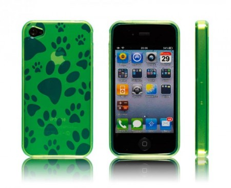 Gel Case for iPhone 4  Lime Pote