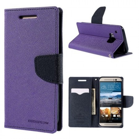 Etui m/kortlommer for HTC One M9 Mercury Lilla