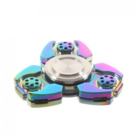Fidget Spinner Collector Tri Transformer Rainbow Titanium
