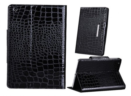 Mappe Etui for iPad Mini Croco Svart