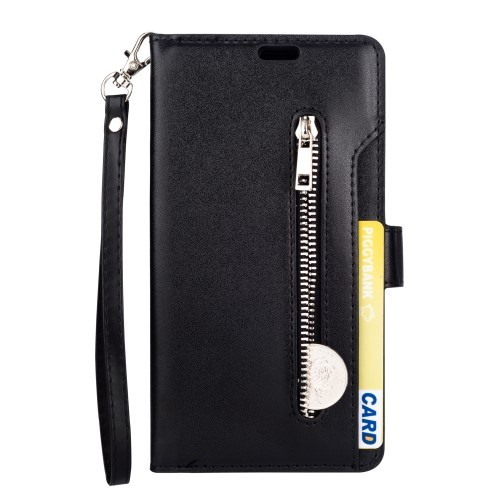 iPhone Xs Max Lommebok Etui Zipper - Svart
