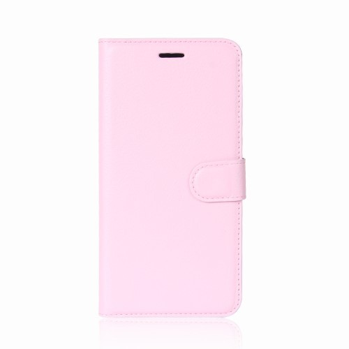 "iPhone X 5,8"" Etui m/kortlommer Lychee Rosa"
