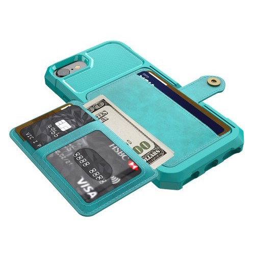 iPhone 6 Pluss / 7 Pluss / 8 Pluss Deksel Armor Wallet Turkis