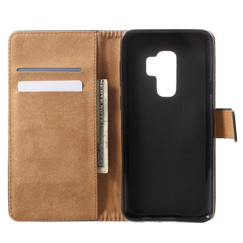Galaxy S9+ (Pluss) Lommebok Etui Genuine Svart