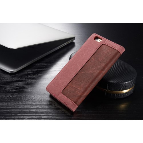 Lommebok Etui for iPhone 6/6s Canavas Rosa