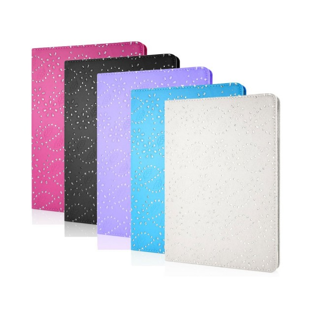 Mappe Etui for iPad Air Glitter Blomst