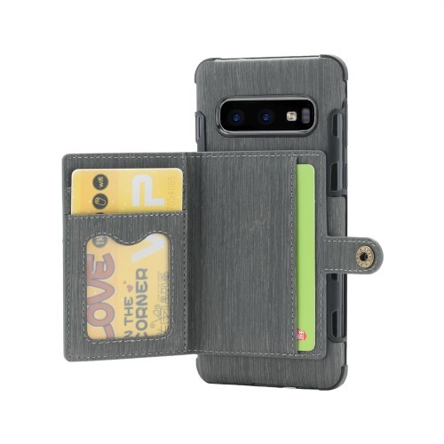 Galaxy S10 Deksel Wallet Brushed Koksgrå