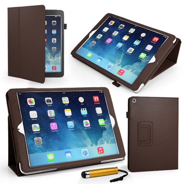 Mappe Etui Premium for iPad Air Brun