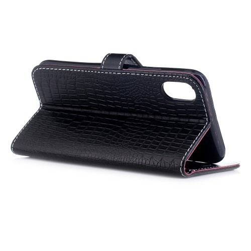iPhone X 5,8 Etui m/kortlommer Crocodile Svart