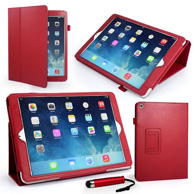 Mappe Etui Premium for iPad Air Rød