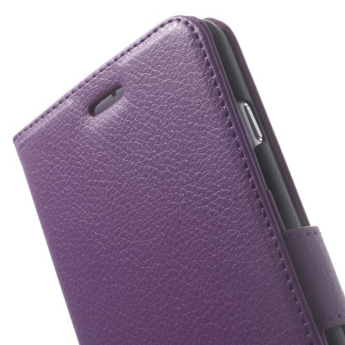 Lommebok Etui for iPhone 6 Pluss Lychee Lilla