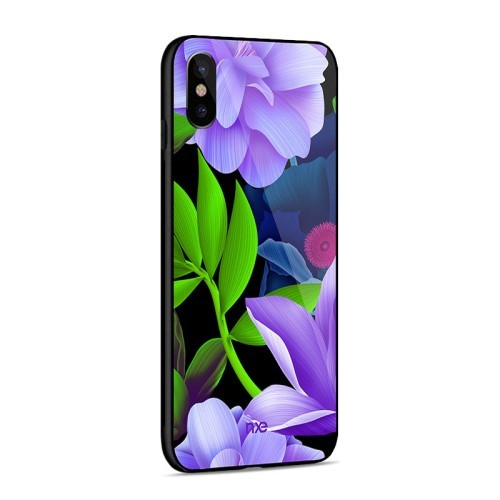 iPhone Xs/X 5,8 Deksel Flower Purple