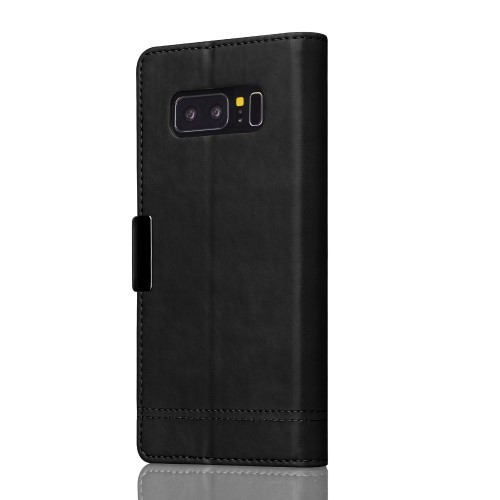 Etui for Galaxy Note 8 Smooth Svart