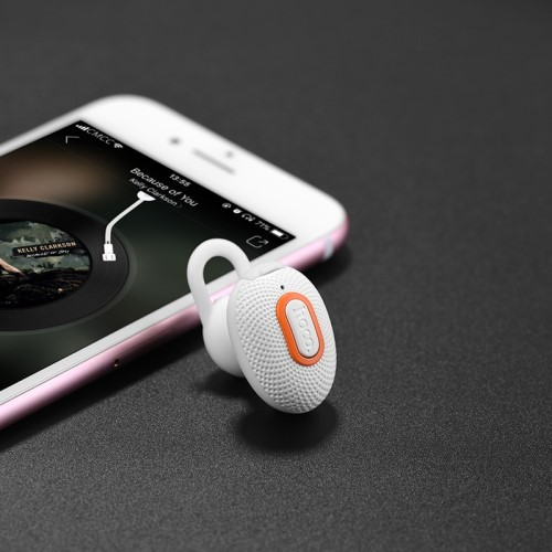 Bluetooth Handsfree Øreplugg Mini Sport Hvit