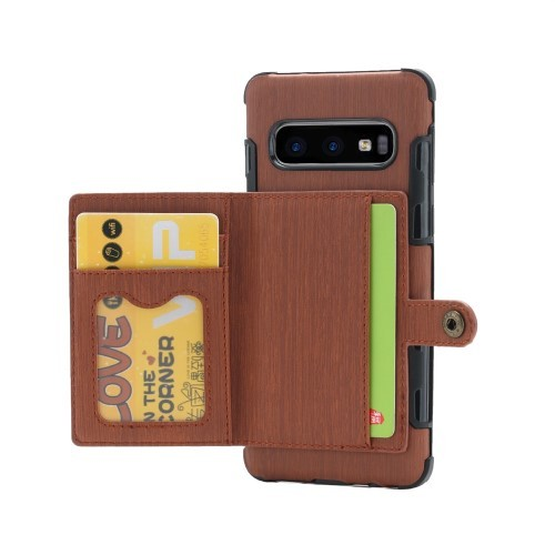 Galaxy S10 Deksel Wallet Brushed Kaffebrun
