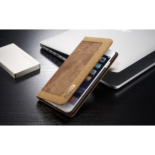 Lommebok Etui for iPhone 6/6s Canavas Brun