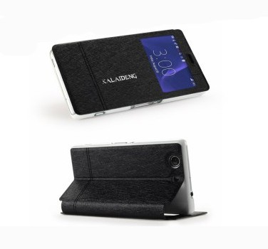 Slimbook Etui for Sony Xperia Z3 Compact Ice Svart