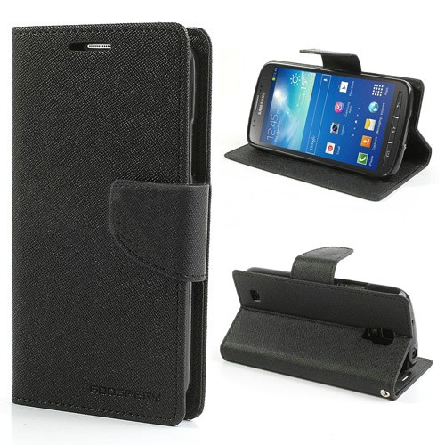 Lommebok Etui for Samsung Galaxy S5 (G900) Mercury Svart