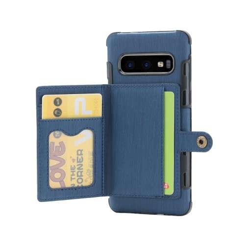 Galaxy S10 Deksel Wallet Brushed Midnattsblå