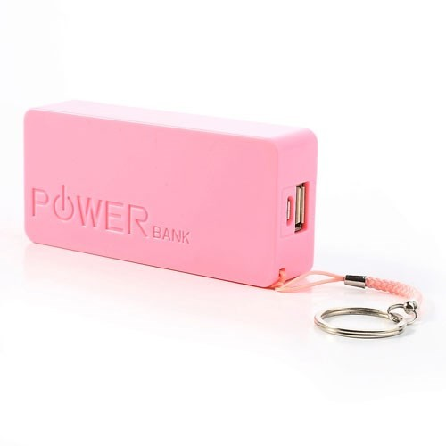 Power Block Strømbank 4000mAh for Smartelefoner Rosa