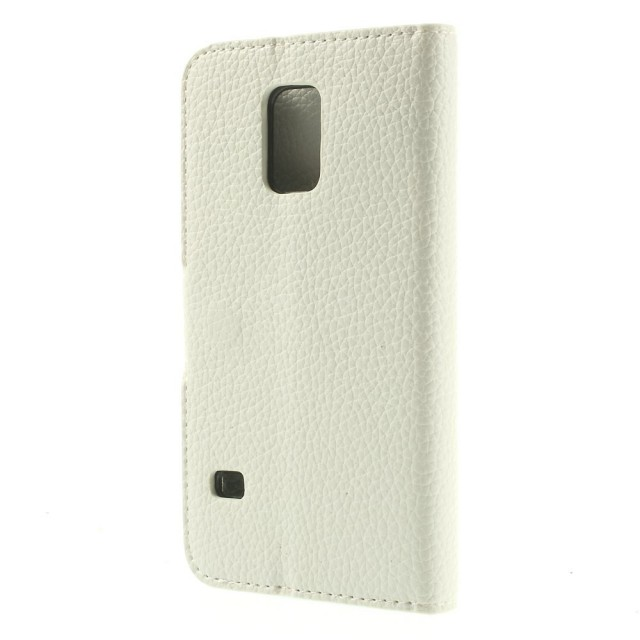 Lommebok Etui for Samsung Galaxy S5 Mini Classic Hvit