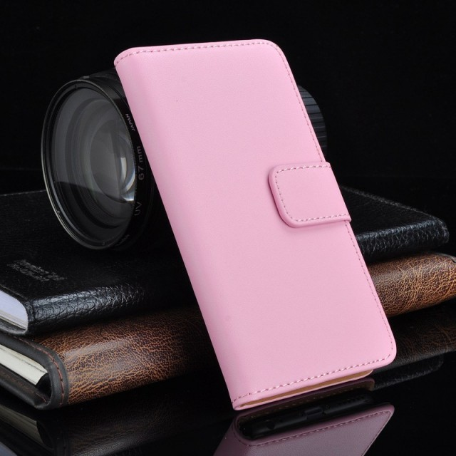 Lommebok Etui for Xperia Z3 Genuine Lys Rosa