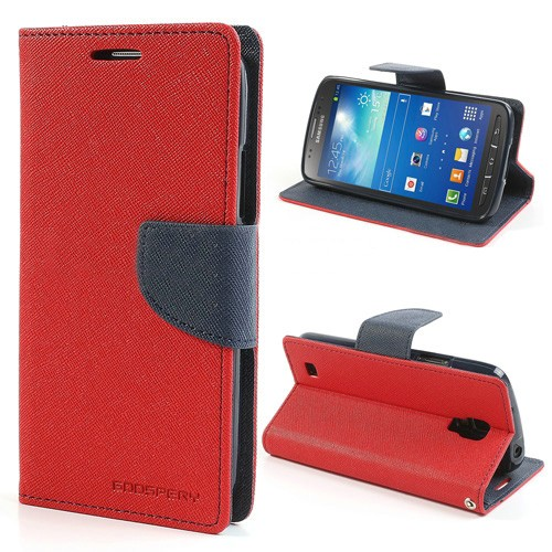 Lommebok Etui for Samsung Galaxy S5 (G900) Mercury Rød