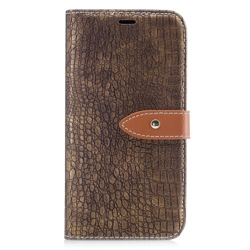 iPhone X 5,8 Etui m/kortlommer Crocodile Brun