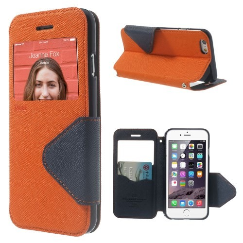 Etui for iPhone 6 Roar m/Skjermvindu Orange