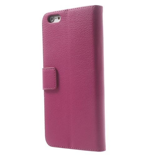 Lommebok Etui for iPhone 6 Pluss Lychee Rosa