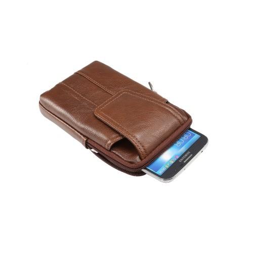 Universal Mobilveske av Lær Stående med 2 lommer XL | Etuier