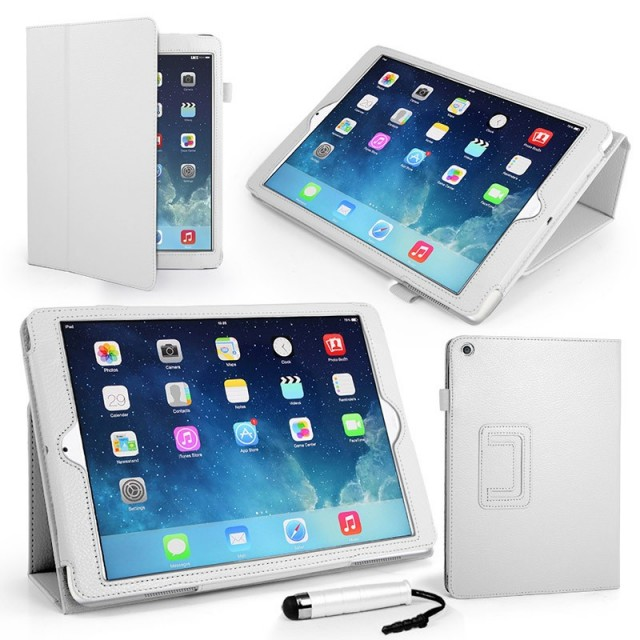 Mappe Etui Premium for iPad Air Hvit