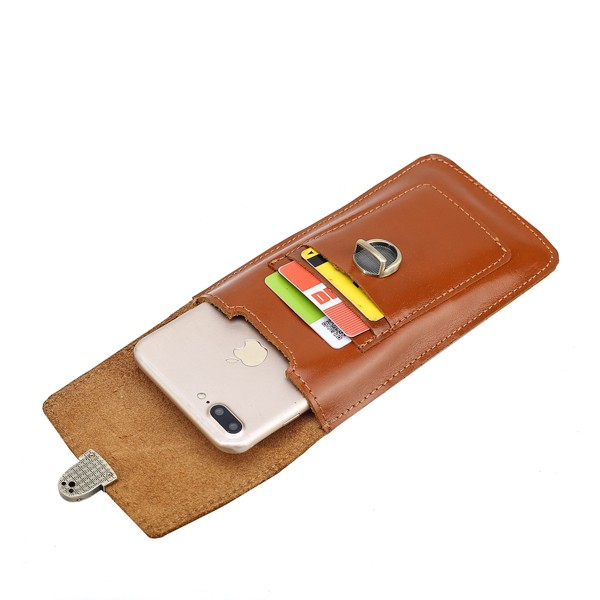 Mobilveske av ekte lær mneckband L | Etuier, deksler
