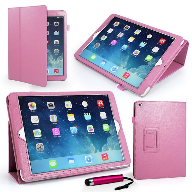 Mappe Etui Premium for iPad Air Lys Rosa