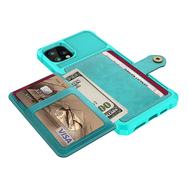 "iPhone 11 Pro 5,8"" Deksel Armor Wallet Turkis"