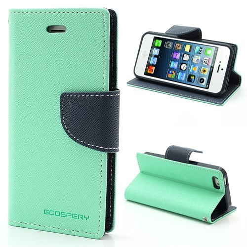 iPhone 5/5s Lommebok Etui Mercury - Turkis