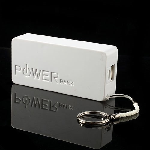 Power Block Strømbank 4000mAh for Smartelefoner Hvit