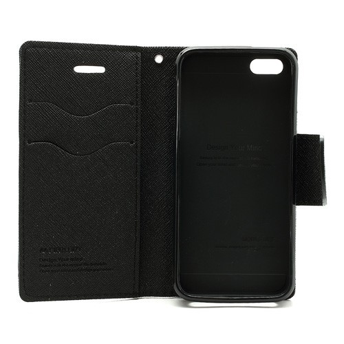 iPhone 5/5s Lommebok Etui Mercury - Svart