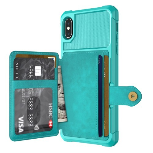 iPhone Xs Max Deksel Armor Wallet Turkis