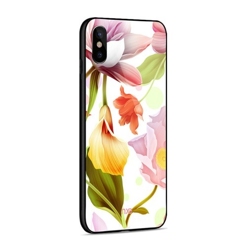 iPhone Xs/X 5,8 Deksel Flower Pink/Yellow/Red