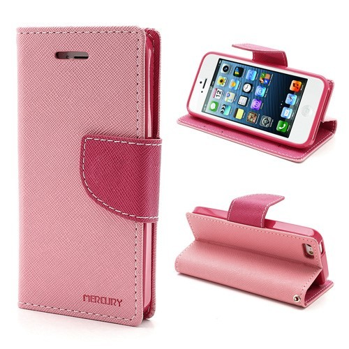 iPhone 5/5s Lommebok Etui Mercury - Rosa