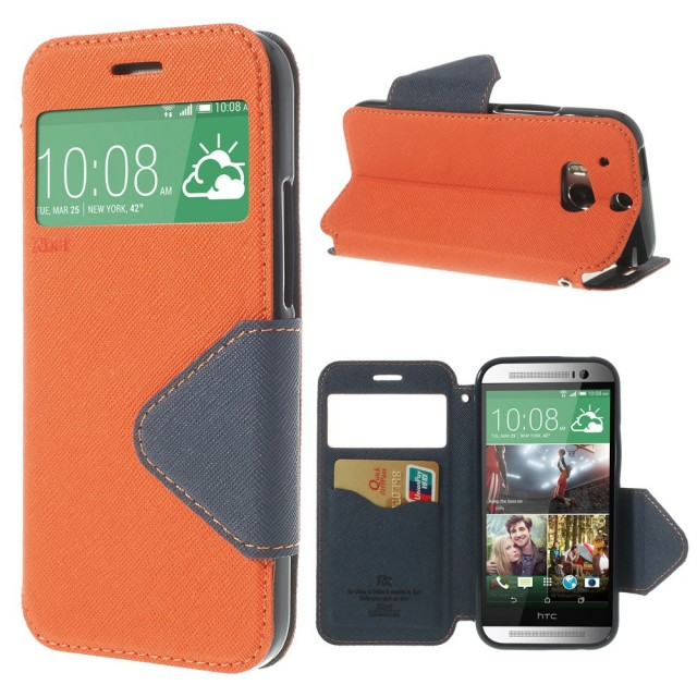 Slimbook Etui for HTC One (M8) Orange