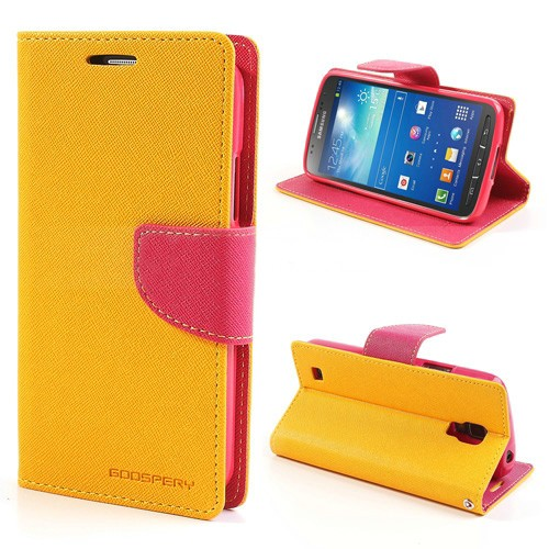 Lommebok Etui for Samsung Galaxy S5 (G900) Mercury Gul