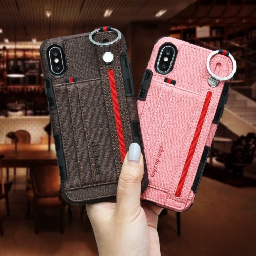 iPhone Xs Max Deksel Ultimate Case Rosa og Kaffebrun