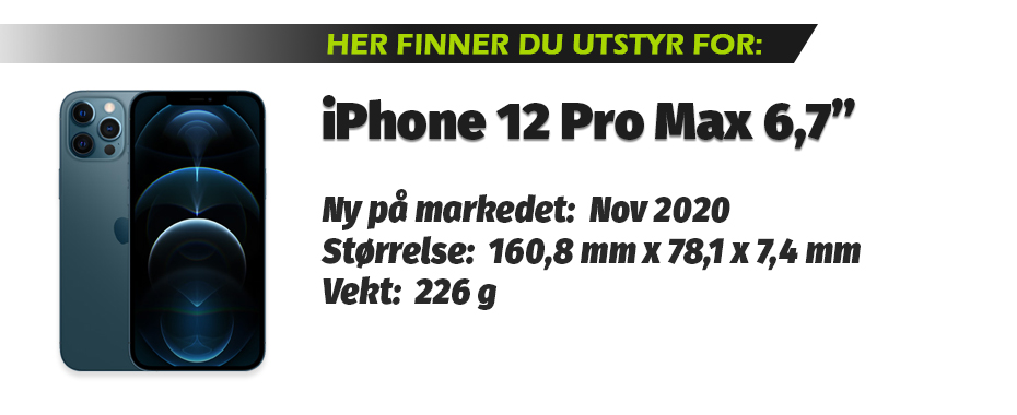 Utstyr for iPhone 12 Pro Max 6,7""